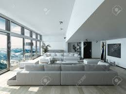 modern living room design with elegant couches inside