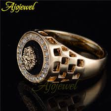 popular cheap gold rings for men buy cheap cheap gold ajojewel diseñador de la marca de joyería de los hombres anillo de