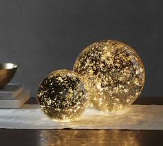 lit mercury glass globe pottery barn