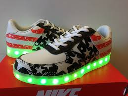 light up high tops nike nike air force 1 low light up independence day american flag nike