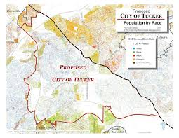 City Map Of Virginia by The City Of Tucker Initiative A Racial Dot Map Of Dekalb County