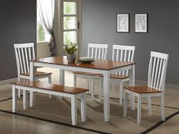 dining room table and bench amazon com boraam 22034 bloomington 6 piece dining room set