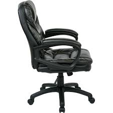 Leather Chairs Office Office Star Faux Leather Manager U0027s Office Chair With Padded Arms