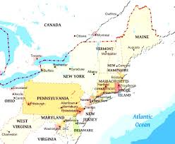 map of atlantic canada and usa map of ne usa and canada all world maps