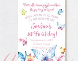 butterfly invitation etsy