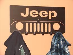 jeep cj grill logo jeep front coat rack robe hook metal cabin garage hanger 4x4
