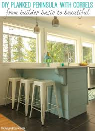 kitchen island with corbels remodelaholic update a plain kitchen island or peninsula with