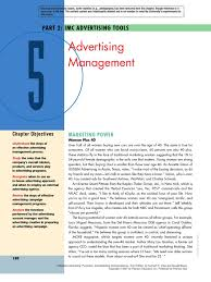advertising management advertising marketing communications