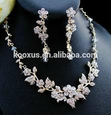 elegant necklace set images Elegant gold floral wedding necklace set jewelry buy necklace jpg
