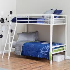Duro Hanley Twin Over Twin Bunk Bed White Hayneedle - Twin over twin bunk beds