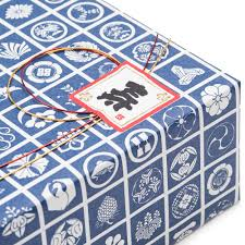 japanese gift wrapping blue square japanese gift wrap