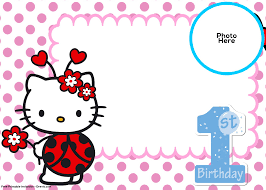 hello kitty birthday invitation template image collections