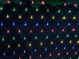 solar net lights 200 led 2m x 1 5m multi colour outdoor lighting