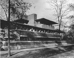 exterior sketch rendering of the robie house source copyright
