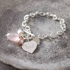 solid silver bracelet charms images Personalised solid sterling silver heart bracelet by hurleyburley jpg