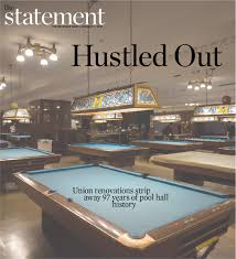 nc state pool table light hustled out union renovations to strip away 97 years of pool hall