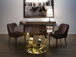 luxury round dining table nella vetrina andrew modern italian designer round wood dining table