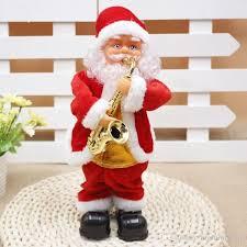 santa claus plays the saxophone animated