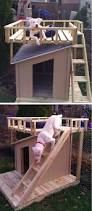 diy dog house with roof top deck the home depot community