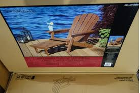 Folding Adirondack Chairs Sale Costco Deal Folding Adirondack Chair With Ottoman 99 99 Frugal