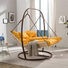 large double hammock couple indoor balcony outdoor rattan swing