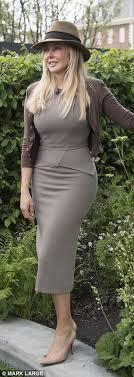 tight dress carol vorderman displays pert derriere in tight dress daily