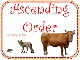order and descending order math posters for your math word wall