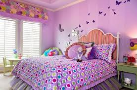 purple butterfly bedroom and feminine style also decorative