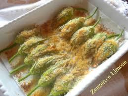 ricette con fiori di zucchina al forno fiori di zucca ripieni ricetta contorno zenzero e limone