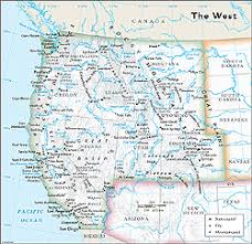 united states map with rivers and mountain ranges us west regional wall map by geonova