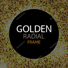 vector gold disco lights frame or spangles frame with empty