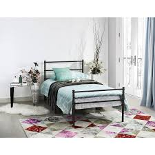 amazon com metal bed frame twin size greenforest two headboards