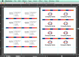 Business Card Sheet Template Create An Editable Pdf Business Card Design Template In 7 Steps