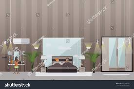 vector set bedroom flat style design stock vector 647298226