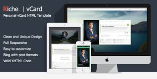 riche vcard personal vcard html template by hamzh themeforest