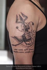 lord shiva on bullet on right shoulder by studio z