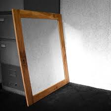 mirror large bathroom wall mirror with rustic carbonized pine