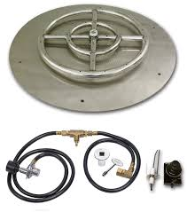 Natural Gas Fire Pit Kit Amazon Com 30 Inch Round Stainless Steel Flat Fire Pit Burner Pan
