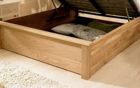 Oak Ottoman Bed 6ft Monaco Oak Ottoman Bed