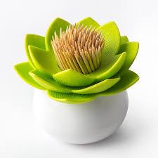 Toothpick Dispenser Lotus Toothpick Holder Pink Flower Toothpick Dispenser Qualy