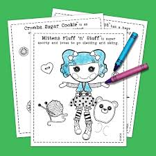 lalaloopsy coloring pack nickelodeon parents