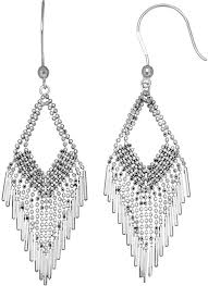 Beaded Chandelier Etsy Silver Chandelier Earrings At Home And Interior Design Ideas