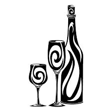 champagne silhouette png vinilo botella de vino y sus copas laminas siluetas pinterest