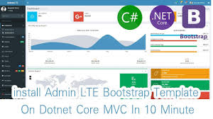 bootstrap templates for mvc 4 part 01 install admin lte bootstrap template for dotnet core mvc in