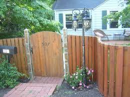 concrete and wood fence home u0026 gardens geek
