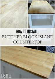 butcher block island countertop kitchen makeover little red