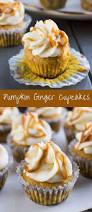 pumpkin ginger cupcakes recipe baked by an introvert