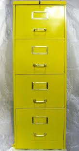 Yellow Metal Filing Cabinet Yellow Metal File Cabinet File Cabinets