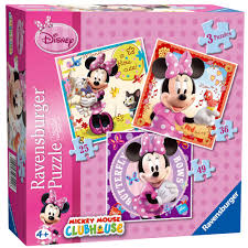 Minnie Mouse Toy Box Ravensburger Disney Minnie Mouse 3 In A Box Puzzles 7 00