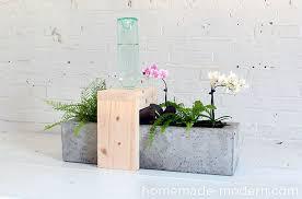 Diy Self Watering Herb Garden Homemade Modern Ep49 Self Watering Concrete Planter